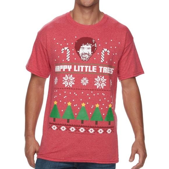 738a63d8e Bob Ross Shirts | Joy Of Painting Pbs Tv Christmas Tshirt | Poshmark